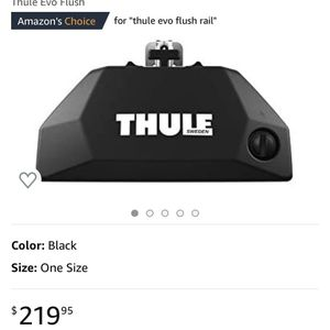 thule evo flush rail for Sale in Burien, WA