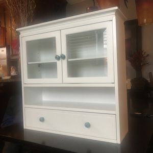 Small wall cabinet - 2 doors / shelf / drawer / storage - white for Sale in Downers Grove, IL