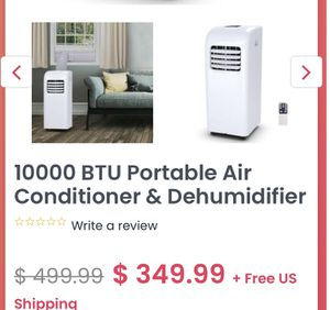 Portable air conditioner new in box for Sale in Bakersfield, CA