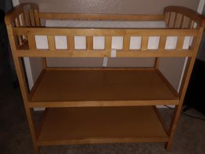 Brown Baby Diaper Changing Table With 1-Inch Thick Changing Pad for Sale in Henderson, NV