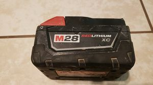Milwaukee M28 red lithium battery for Sale in San Luis Río Colorado, MX