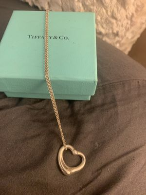 Tiffany's heart necklace with diamond for Sale in Belmont, CA