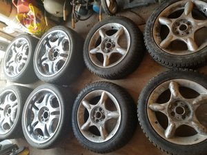 Wheels and tires 21 chrome and 19 for Sale in Trenton, NJ