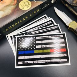 Police First Responder Emergency Services Stickers - Thin Blue Green RED Line for Sale in Rockdale,  IL