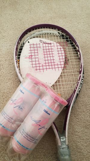 Wilson Tennis rackets and balls for Sale in Manassas, VA