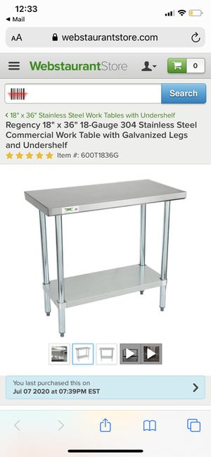 Stainless steel kitchen island for Sale in Philadelphia, PA