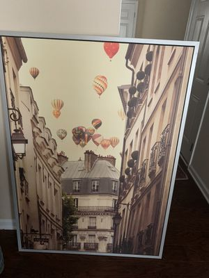 French painting with air balloons for Sale in Williamsburg, VA