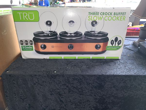 Three Crock Pots Buffet Cooker