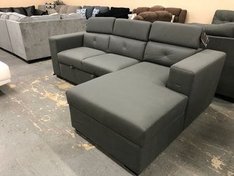 ➡️👇$39 Down Payment👇⬅️Salado Gray Sleeper Sectional with Storage byAshley ❗Delivery Time Thursday🚛 for Sale in Merion Station,  PA
