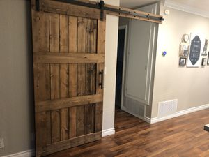 Wood barn door , real wood , farm style for Sale in Ontario, CA