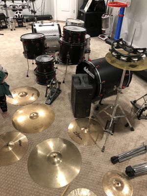 Tama Rockstar drum set, DDrum electric/acoustic drum set, hardware, pedal, cymbals, hihats for Sale in Naperville, IL