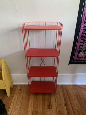 Small red metal shelf for Sale in Dearborn, MI