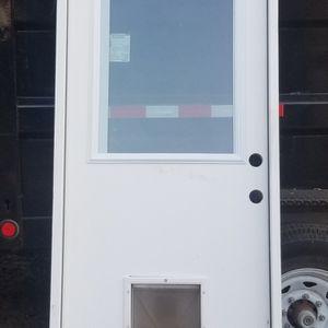 8ft Back door With Doggy door for Sale in Dallas, TX