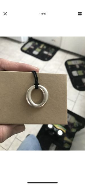 Tiffany & Co. infinity pendant with original string necklace for Sale in Morton Grove, IL
