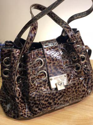Jimmy Choo Riki Leopard Print Brown Patent Leather Satchel for Sale in Philadelphia, PA