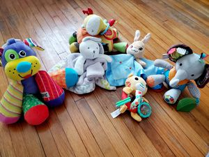Baby Plush Rattles Teethers Activity Sensory Toys for Sale in Pasadena, TX
