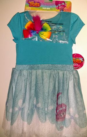 New Trolls Dress Up Dress and Headband - Toddler Girls Size: 5T for Sale in Smithville, TN