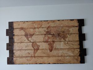 Rustic/ vintage world map art for Sale in Bloomingdale, IL