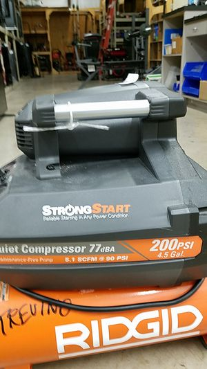 Ridgid compressor 200psi for Sale in San Antonio, TX