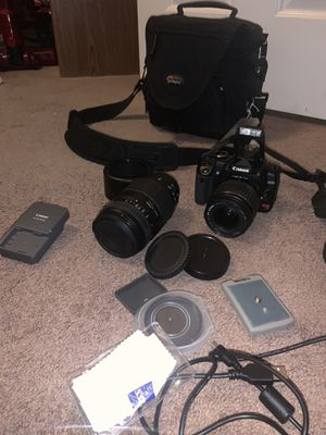 Canon EOS Rebel XTI DSLR Camera With Lenses And Accessories++Case 👀🔥works🔥 for Sale in Queen Creek, AZ