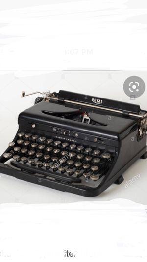 royal typewriter for Sale in Atlanta, GA