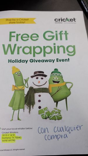 Free gift wrapping for Sale in Garland, TX