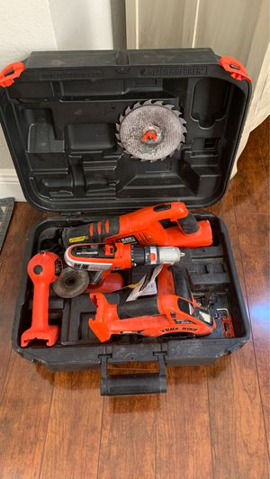 18v black and decker combo drill Sawzall rotary saw and flashlight for Sale in Weston, FL