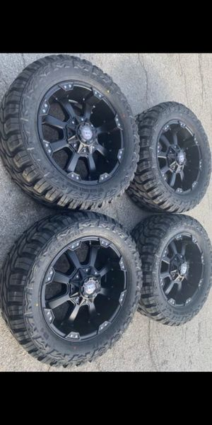 """New 20"""" Ballistic Rims & M/T Tires Black Wheels Ford Chevy GMC Ram 20s for Sale in Dallas, TX"""