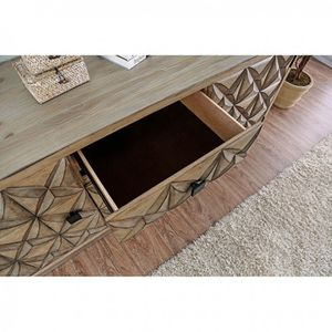 WEATHERED LIGHT OAK HALL CONSOLE TV STAND TABLE CABINET / MUEBLES GABETAS for Sale in Rancho Cucamonga, CA