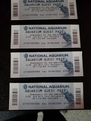 Real national aquarium tickets for Sale in Woodbridge, VA