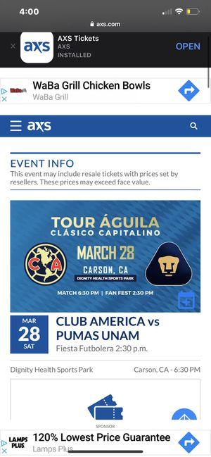 Club America tickets for Sale in San Bernardino, CA