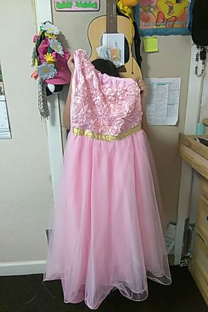Little girls party dress, dama dress, quinceañera, flower girl size 12 for Sale in Houston, TX