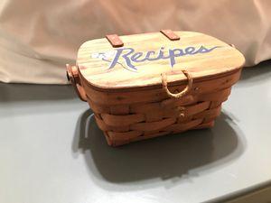 Vintage Longaberger Recipe Basket for Sale in La Habra Heights, CA