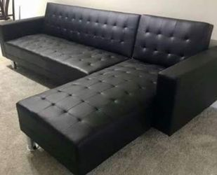Brand New Black Futon Sectional Sofa for Sale in Austin,  TX