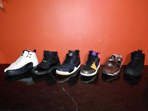 🔥 6 pairs TAXI ,GAMMA BLUES ,LAZER 4S,RETRO 1 ,PENNY'S. Nike Air Jordans sz 6.5-7 🔥 for Sale in Chicago, IL