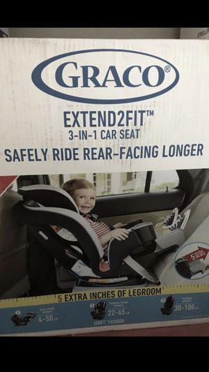 GRACO EXTEND2FIT 3 IN 1 CAR SEAT ( JANEY COLOR) for Sale in Pomona, CA