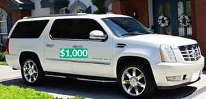 🍏$1OOO No mechanical problems Escalade Clean title🌏 for Sale in Fort Lauderdale, FL