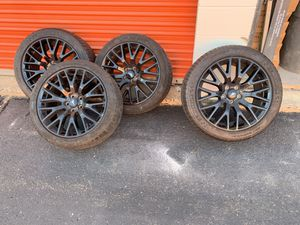 Ford mustang GT rims with tires like new full set for Sale in Philadelphia, PA
