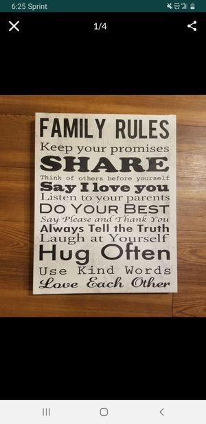Large home decor family wall hanging canvas for Sale in Wheat Ridge, CO