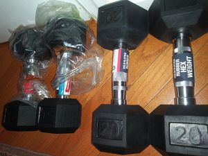 New dumbbell pairs 15 lbs and 20 lbs. for Sale in South Riding, VA
