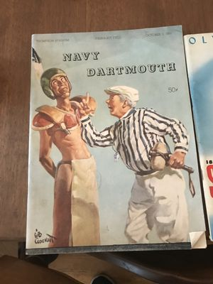 1953 Navy vs Dartmouth football program for Sale in Boonsboro, MD