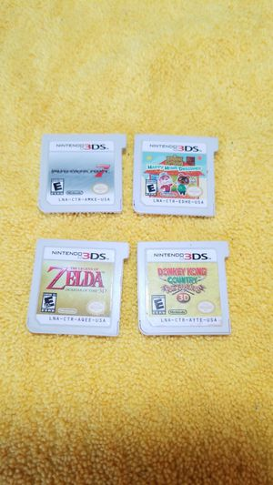 Nintendo 3ds Games....4 GAMES!!!! for Sale in Chula Vista, CA