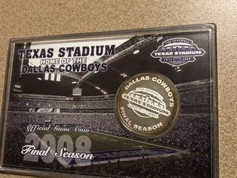 Dallas Cowboys Final Stadium Season Coin for Sale in Woodway,  TX