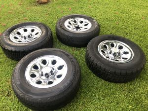 Chevrolet 17 inch rim and tires for Sale in Jacksonville, FL