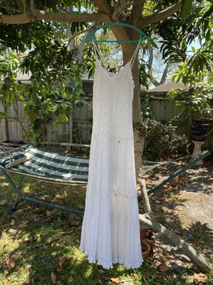 Stunning LONG white summer dress for Sale in Hollywood, FL