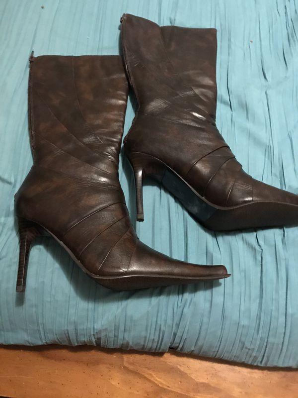 Aldo Dark Cafe Size 7.5 Mid Rise Boots