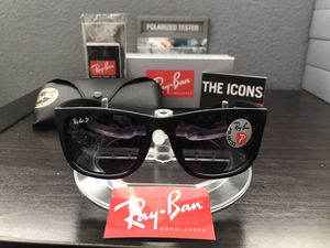 Ray-Ban Sunglasses Justin Polarized for Sale in Temecula, CA