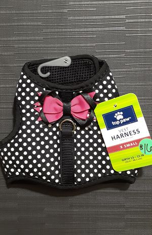 NEW Top Paw XSmall Black Dot Pink Bow Vest Harness for Sale in Plant City, FL