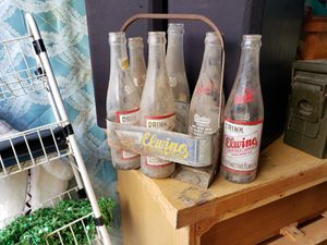 Antique Bottles in carrying case for Sale in Tulsa, OK