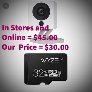 Wyze Cam V2 1080p Indoor Smart Home Camera with Wyze 32GB microSD Card for Sale in Perris, CA